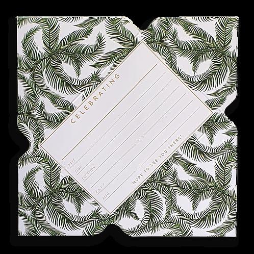 Palm Leaf Telegram Invitations