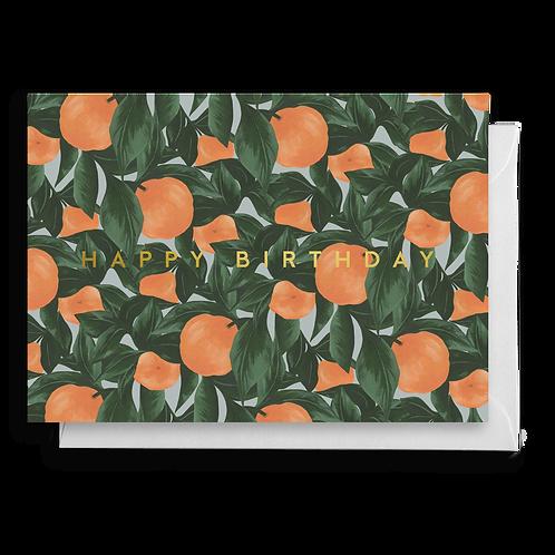 OrangeFruit Birthday Card