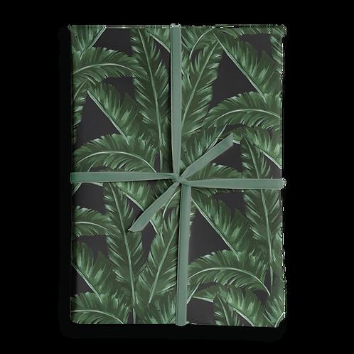 Banana Leaf Dark Wrapping Paper