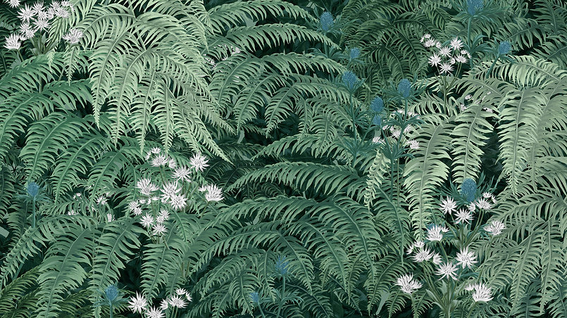 tile-parralex-woodland-temperate-leaf-foliage-painting-illustration-nature-wild-flower-fer