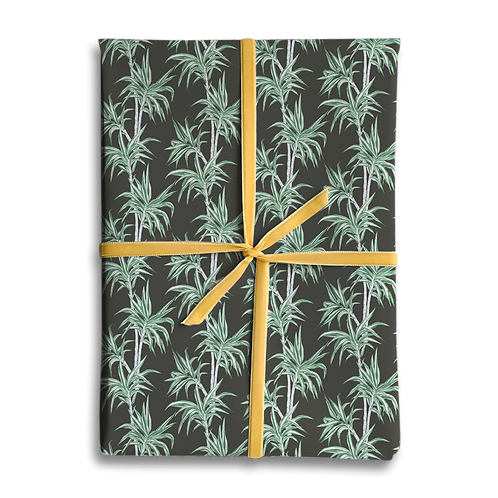 Dark Palm Tree Wrapping Paper