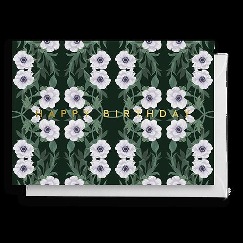 Dark Anemone Birthday Card