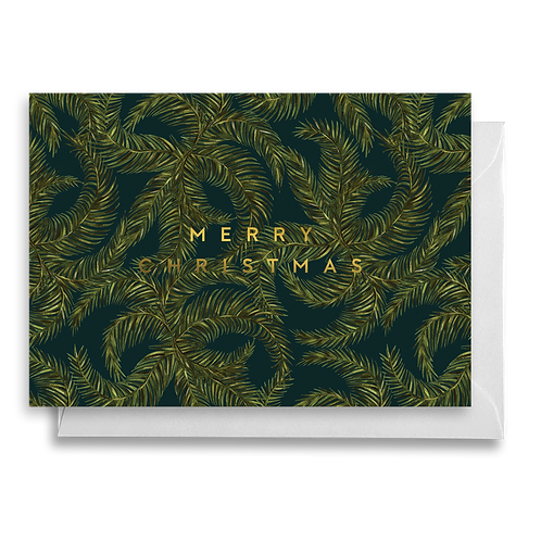 Dark Foliage Christmas Card