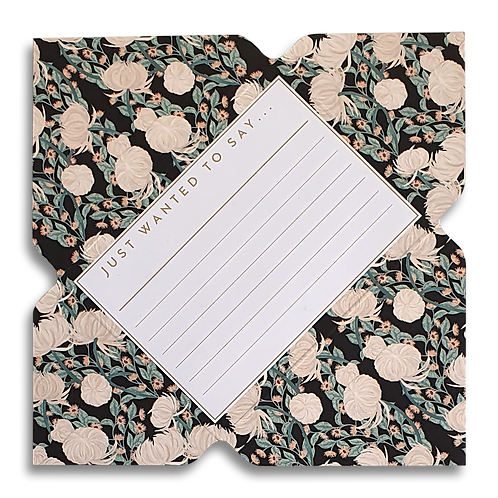 Dark Chrysanthemum Telegram Notecard