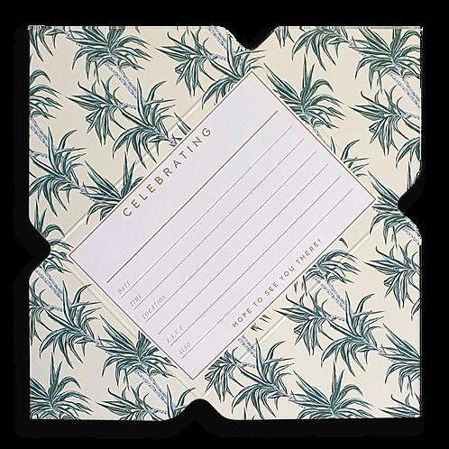 Vintage Palm Leaf Telegram Invitations