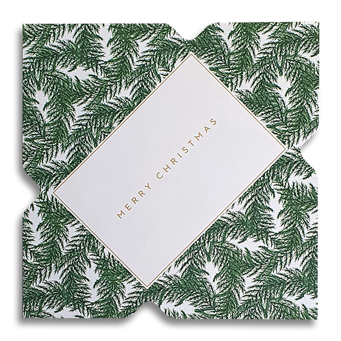 Fern Leaf 'Merry Christmas' Telegram Card