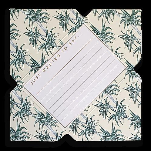 Vintage Palm Tree Telegram Notecard