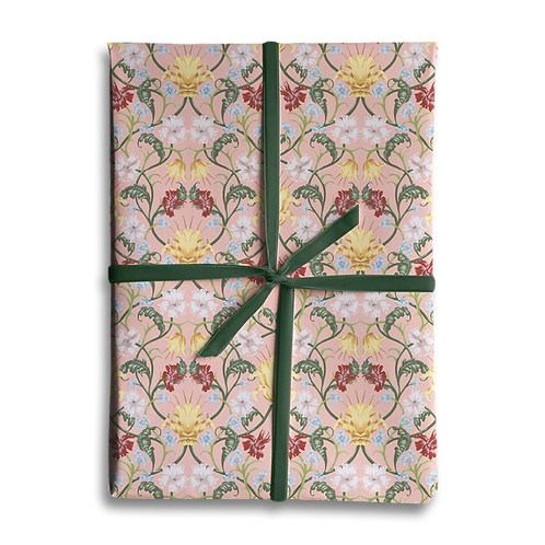 Pink Vintage Floral Wrapping Paper