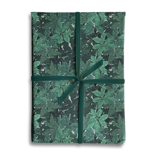 Green Leaf Woodland Wrapping Paper