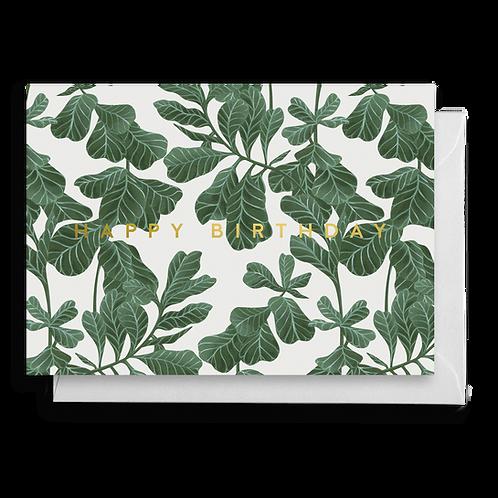 Fiddle Leaf Fig Birthday Card