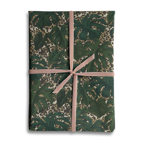 Monstera Animal Print Wrapping Paper