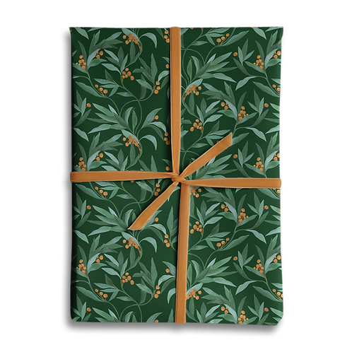 Vintage Berry Christmas Wrapping Paper