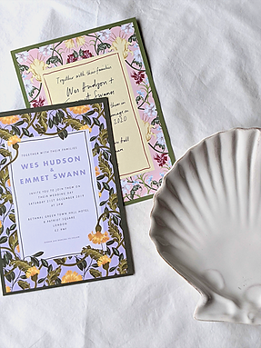 Tuppence Collective Wedding Invtiations