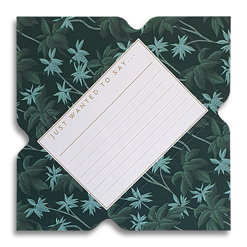 Tropical Palm Telegram Notecard