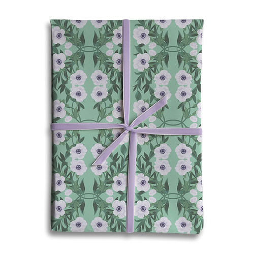 Floral Anemone Wrapping Paper