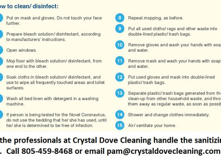 How to clean and disinfect properly.