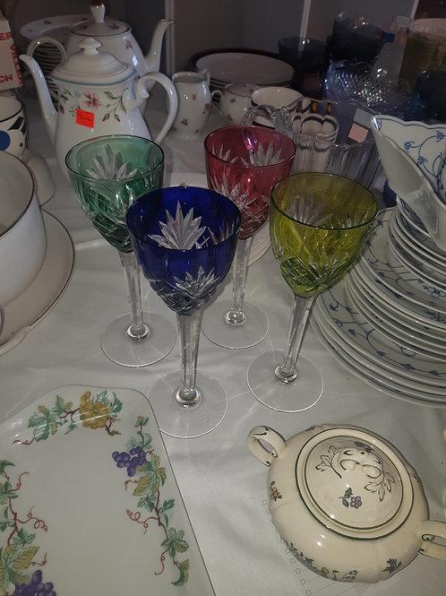 4 verres de cristal de St. Louis