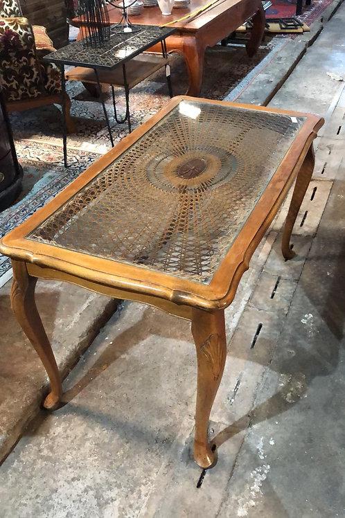 Table en bois et verre