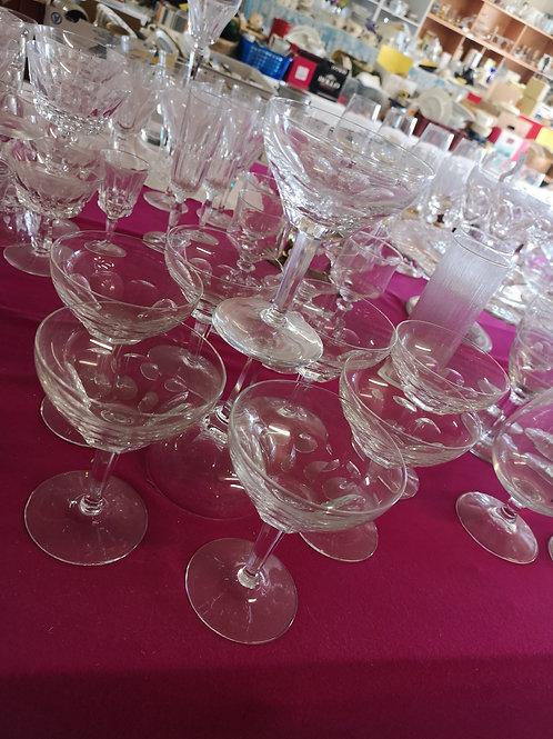 Lot verre à cocktail 9 pièces