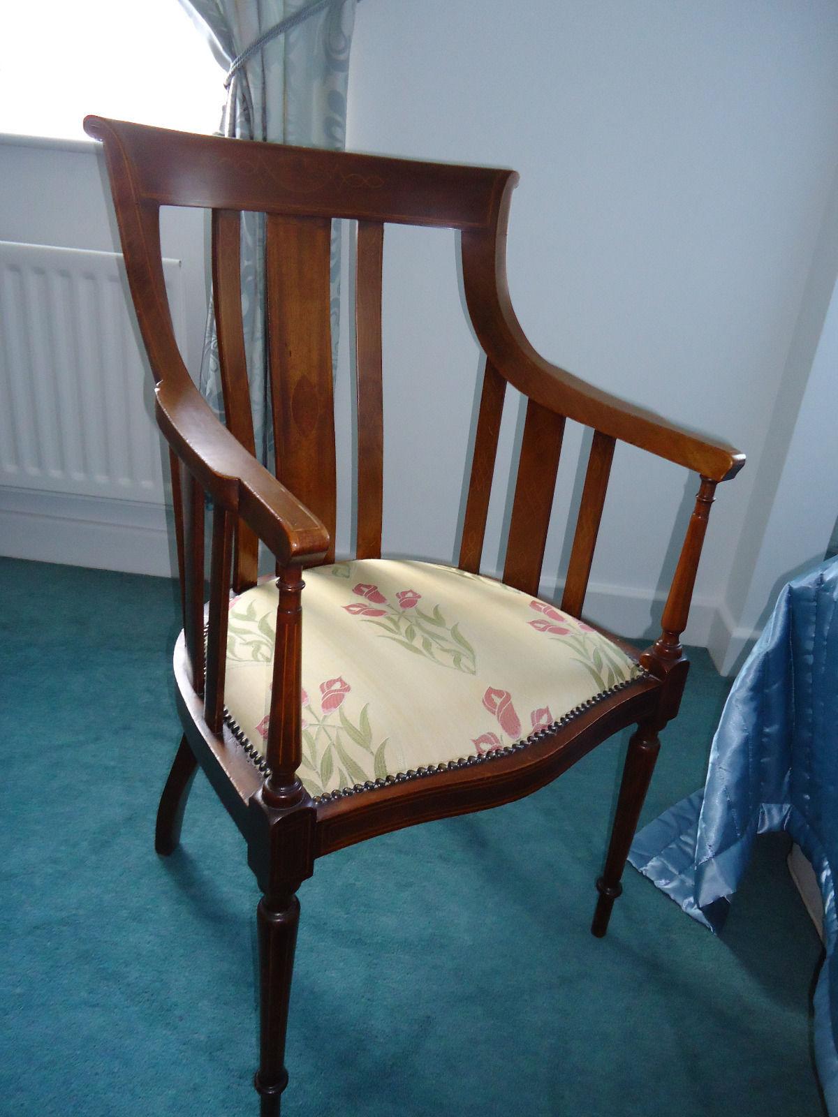 Edwardian, mahogany armchair