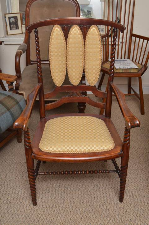 Edwardian Carved Armchair