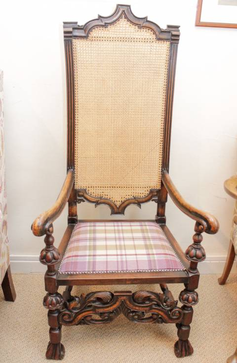 Charles II Style Hall Chair
