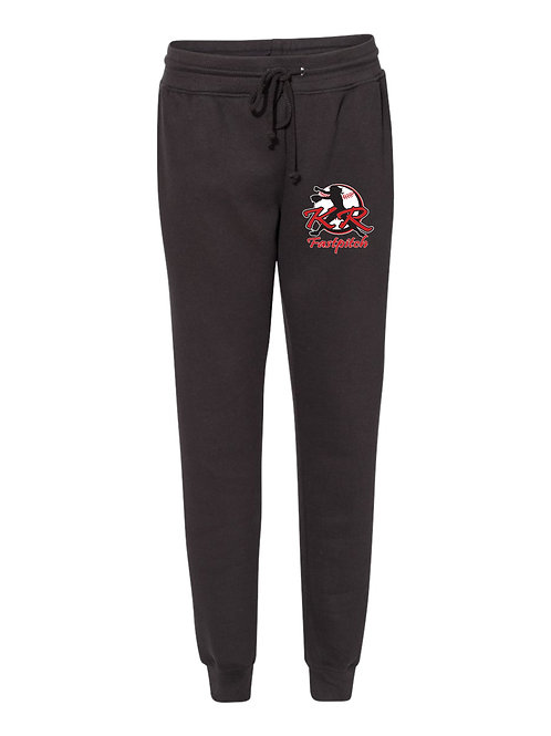 Women's Adult Athletic Joggers with left thigh logo available in 2 colors