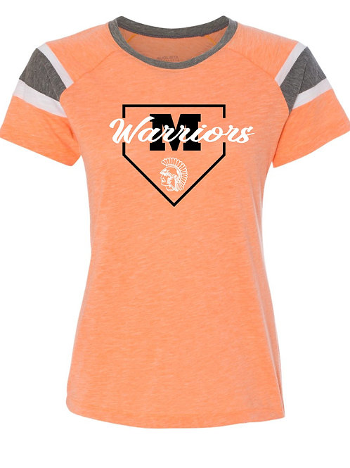 Ladies Augusta 3011 Orange/Grey/white