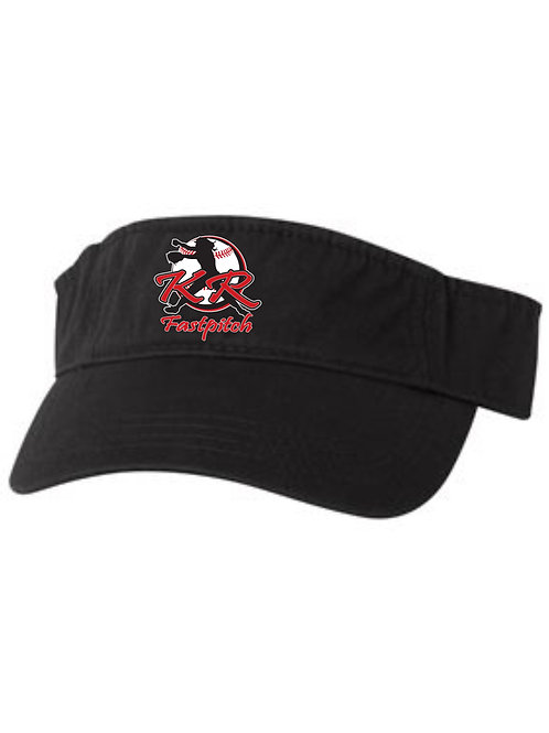 VC100 Adjustable Visors with embroidered logo available in 3 colors