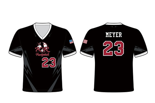 Sleeved Sublimated Black w/Grey Softball Jersey