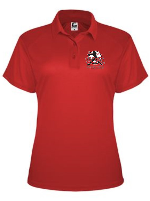 C2 Ladies Polo with left chest logo available in 3 colors