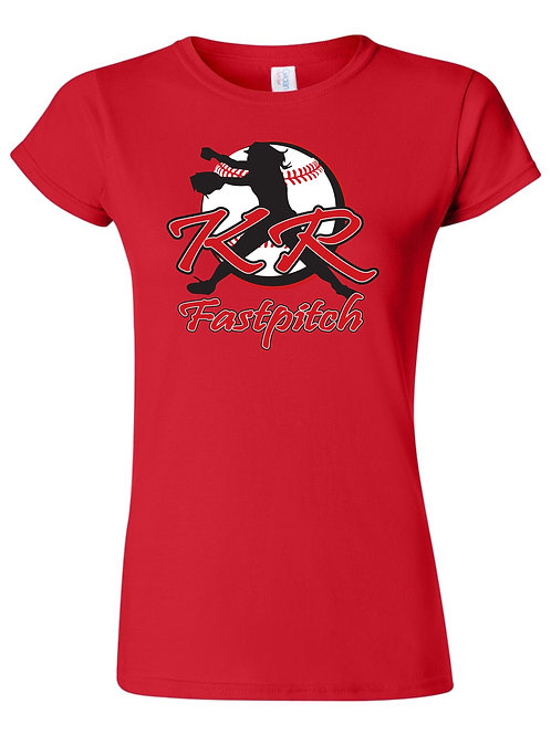 Gildan Ladies 6400L  T-shirt with Full Logo Available
