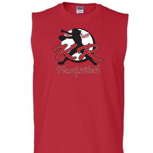 Men's Tank with full front logo available in Red, Grey, Black