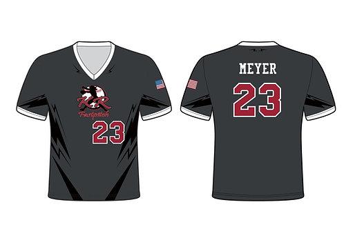 Sleeved Softball Jersey Sublimated Grey w/Black