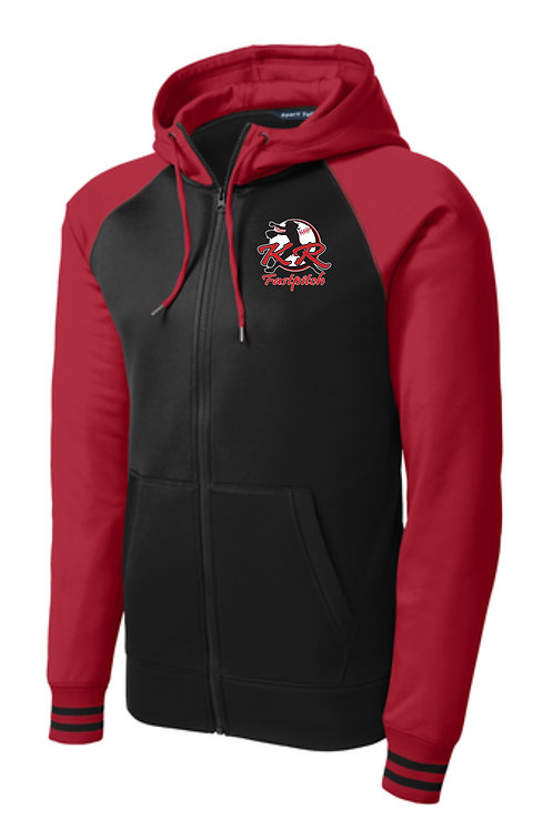 Sportek Varsity Fleece with left chest print in 2 color choice