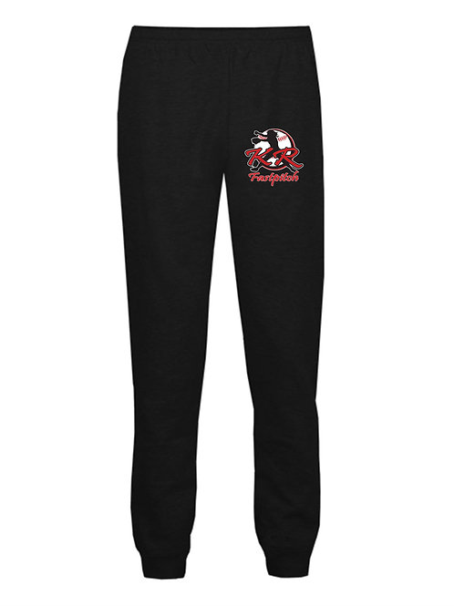Youth Athletic Joggers with left thigh logo available in 2 colors