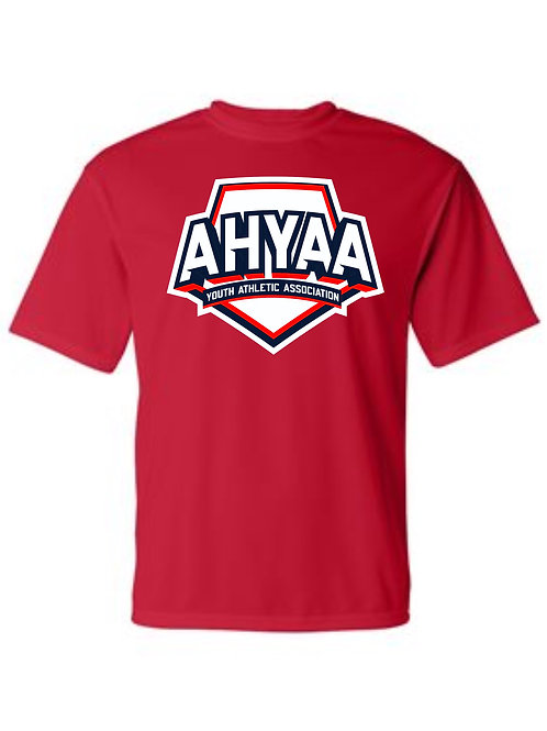 Youth Short Sleeve Dry Fit 5100  with full logo Choose Red or Navy