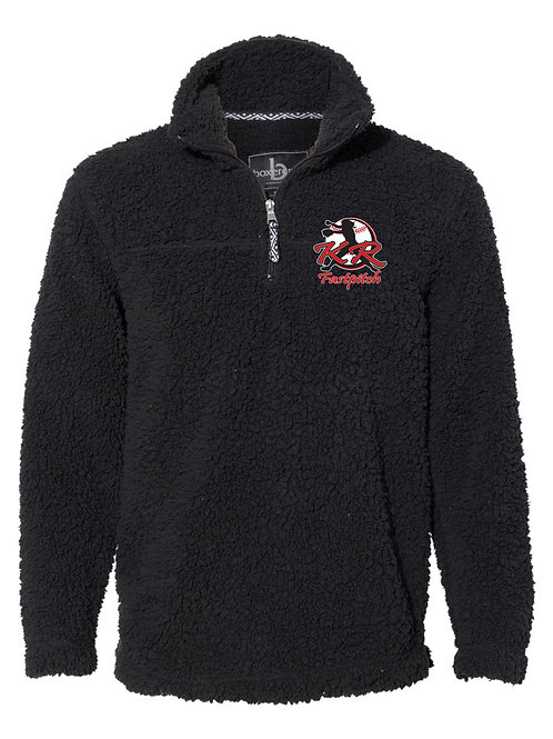 Boxercraft Sherpa Black with left chest logo embroidered