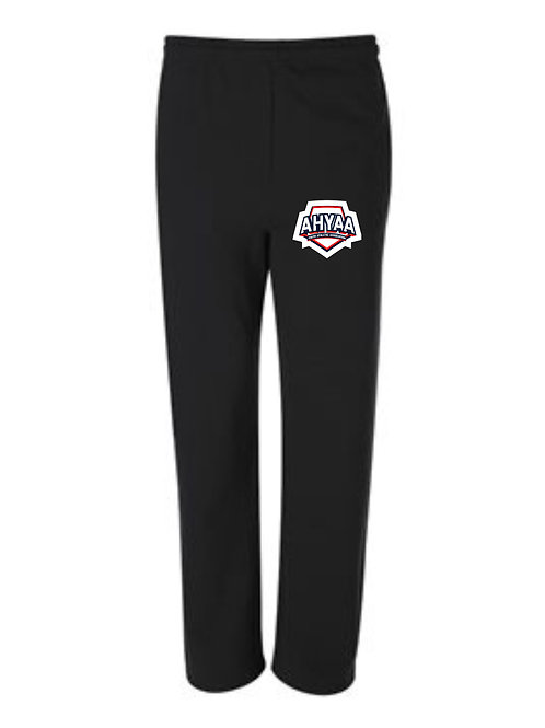 Open Bottom Sweat pants 974MPR  with left thigh logo available in 2 colors