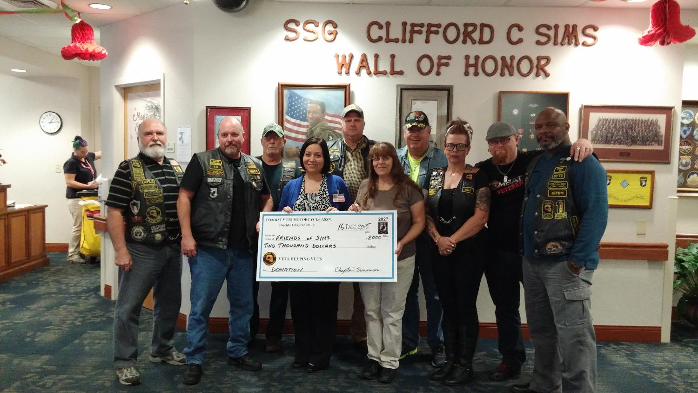 2015 Sims Veterans Home Donation