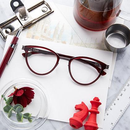 Eyeglasses IC! BERLIN : Beate J. - Barolo Red / Teak