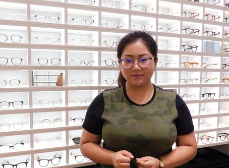 รีวิวประสบการณ์ตัดแว่นกับร้านโอคูระ  เลนส์สายตา Hoya Double Aspheric Index 1.74 Rx และกรอบ H-Fusion