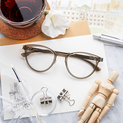 Eyeglasses IC! BERLIN : Beate J. - Dune / Bronze