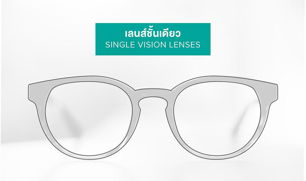 เลนส์ชั้นเดียว (Single Vision Lens)