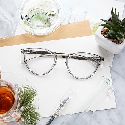 Eyeglasses IC! BERLIN : Beate J. - Sky Grey / Shiny Bronze