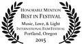 Best Festival Music Love Light Portland Film Festival