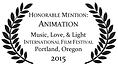 Animation Music Love Light Portland Film Festival Honorable Mention