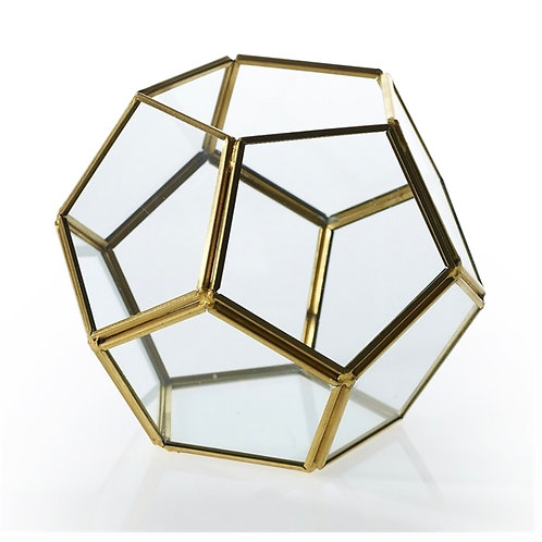 Gold Hexagon Terrarium