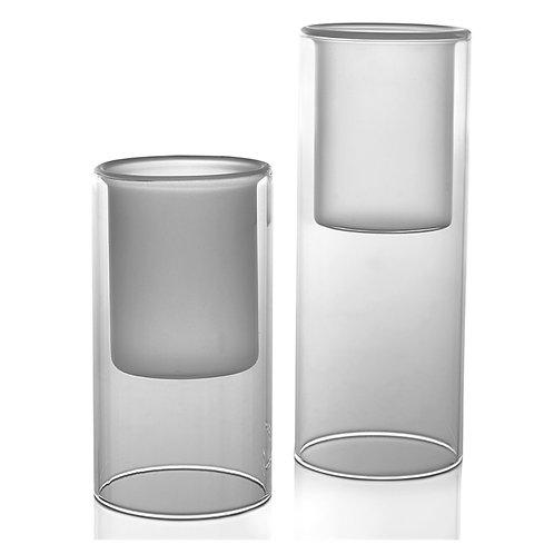 glass standing votive