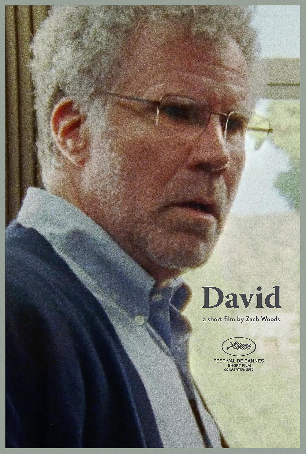 Will Ferrell, plays a therapist, white hair and glasses and smart suit, looks intensely concerned off camera.